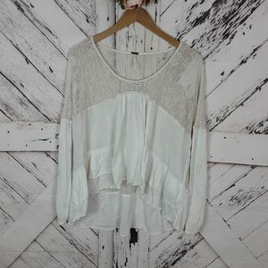 Free People Peasant Lacey Top S